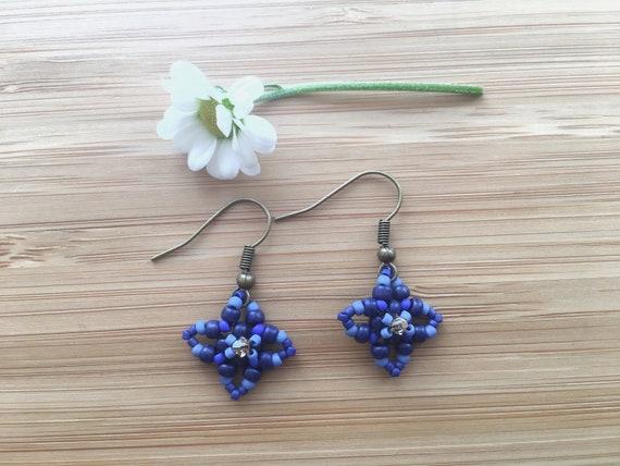 Blue Star Drop Earrings Birthday Gifts Under 10