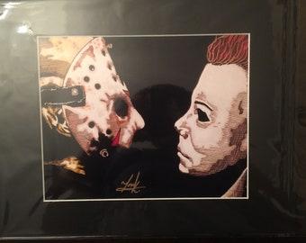 LEGENDS OF HORROR Photo 8X10//11X14 Freddy//Jason//Leatherface//Chucky//Michael etc