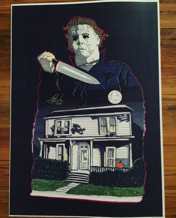 Texas Chainsaw Massacre Leatherface Sketch 8x10 Prints SignedByArtistT.Keaton