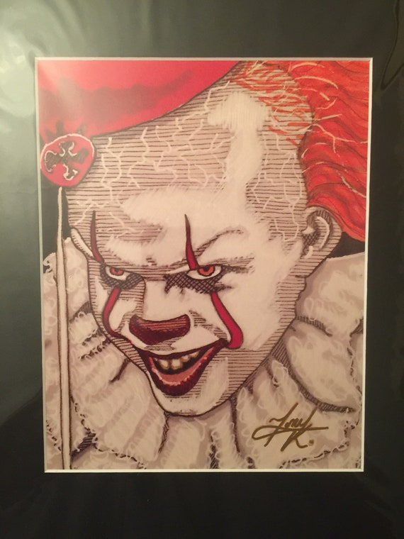 8x10 Trick Or Treat Sam Horror Sketch Prints Signed By Artist Tony Keaton
