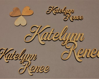 """Custom Name (Laser Cut Name) - SMALL (up to 12"""" x 6"""")"""