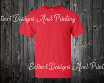 Download Free Red T-shirt Mockup JPEG. High Quailty Photos. Better Listings. Tshirt Mockup Set. Instant Download. PSD Template