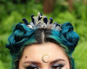 Crystal Blue Agate Goddess of the Stars Crystal Crown