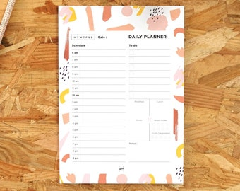 A5 Daily Planner Pad, Pastel Color Notepad, Daily Planner Notepad, To do List, Desk Organiser, Agenda Notepad