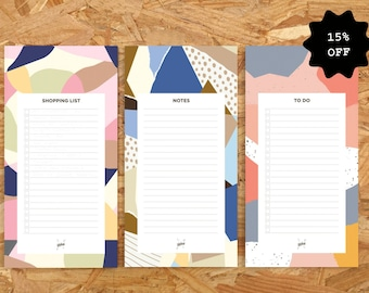 3 Notepads, Memo Pad, To Do List Notepad, Stationary Set, Grocery List, Notepads To Do List, Lined Notepad