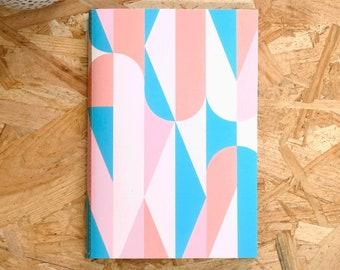 Mid Century A5 Notebook, Notebook Journal, Desk Accessories For Women, A5 Bullet Journal, Sketchbook, Pastel Notebook, Personal Notebook