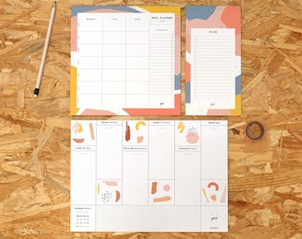 Eco-friendly Stationary Set, Cute Weekly Planner Pad, Meal Planner, Chore List, To Do List, Cute Stationary Box, Cute Assorted Set