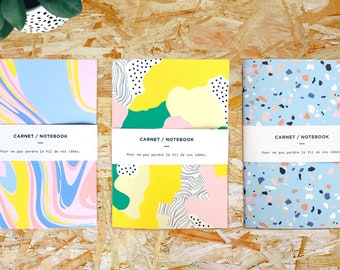 3 Notebooks, A6 Notebook, Bulk Notebooks, Unlined Sketchbook, Unique Notebooks, Cute Notebook, Small Notebooks, Notebooks And Gifts