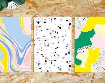 3 Cute Notebooks Pastel Color, A5 Notebook, Lined Sketchbook, Cute Notebook, Journal Pastel Color, Dotted Journal, Notebooks And Gifts