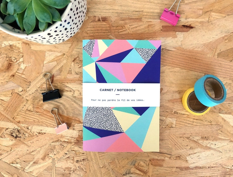 Notebook geometric patterns Babel Office image 0