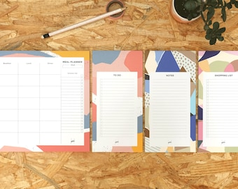 Stationary Set Assorted Set, Meal Planner Pad, Stationary Kit, 3 Notepads, Grocery List, To Do List Notepad, Student Gift, Stationery Set