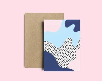 Carte St Valentin - Carte d'anniversaire - Le Grand Amour avec Enveloppe Kraft recyclé
