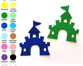 Scrapbook /& Card Making 6 Sand Castles Premade PAPER Die Cuts