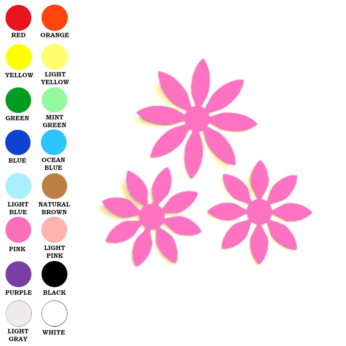 25 Pack Flower Paper Cut Out Paper Flower Flower Etsy