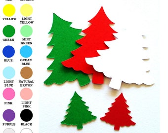 25 pack - Paper Christmas Tree, Tree Shapes, Paper Tree Cut Out, Holiday Paper Shapes, Christmas Cut Out