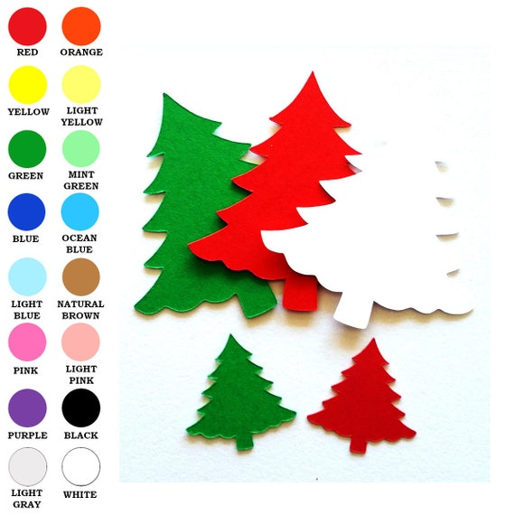 25 Pack Paper Christmas Tree Shapes Cut