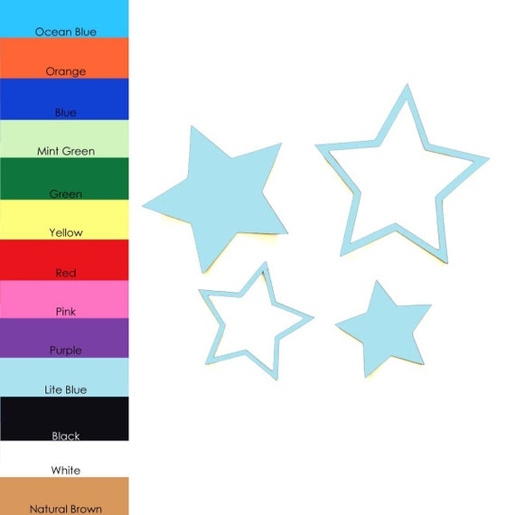 25 Pack Star Shape Cut Out Paper Stars