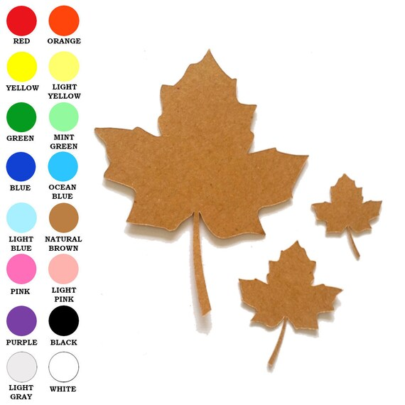 25 Pack Paper Leaf Autumn Paper Leaf Leaf Shapes Fall Etsy