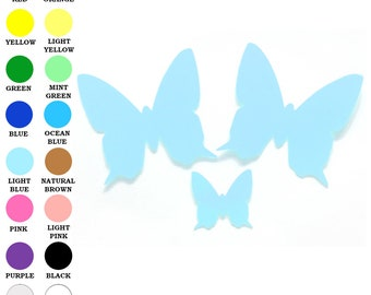 25 Pack - Paper Butterfly Shape, Butterfly Die Cut, Butterfly Cut Outs, Crafting Supplies, Paper Party Supplies