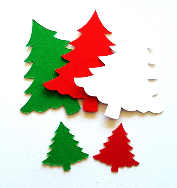 Christmas Tree Cut Out.25 Pack Paper Christmas Tree Tree Shapes Paper Tree Cut Out Holiday Paper Shapes Christmas Cut Out