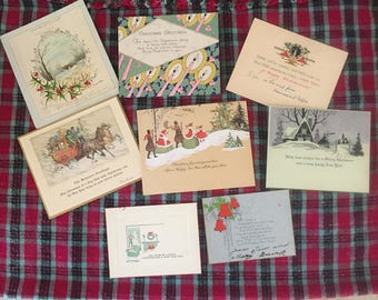 Antique postcard style Christmas cards