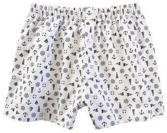 Sailing Boxers - nautical seaside yacht boats - small mens boxer shorts -  underwear for him 28d13edda
