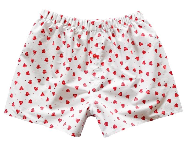 small medium mens boxer shorts Boyfriend Boxers red heart lover underwear for him