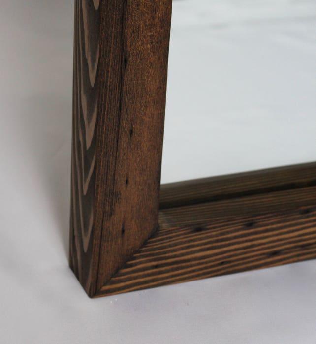 Salvado de madera recuperada rústico Espejo cuadrado 20 x 20   Etsy