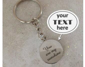engraved key ring etsy