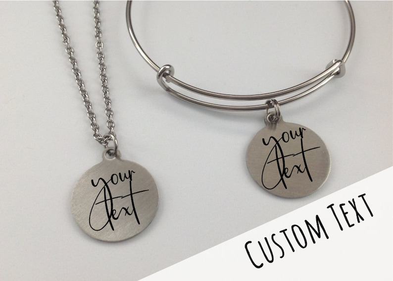 Custom Personalized Gift for Bridesmaid Bridesmaid Gift Gift for Her Mother of the Bride Your Text Here Maid of Honor Engraved Charm