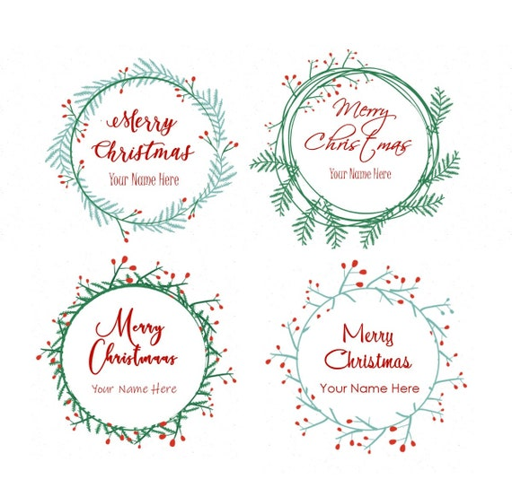christmas labels holiday labels printable labels round etsy