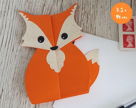 Fox With Butterflies Handmade Greeting Card