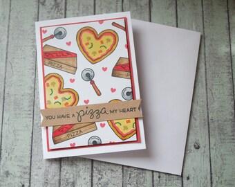 Vous avez une pizza ma carte coeur / carte de la Saint-Valentin Pizza / carte d'anniversaire de Pizza / Pizza proposition drôle/carte de la Saint-Valentin carte /