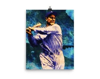 NEW YORK Yankees Retro Baseball Poster LaGuardia DiMaggio Gherig Art Print 146