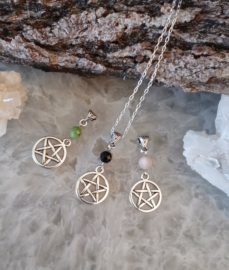 Pentacle Witch Necklace Pentacle Witches Necklace Sister Gift BFF Gift Gift for Her Soul Sisters Pendant Witch Gift