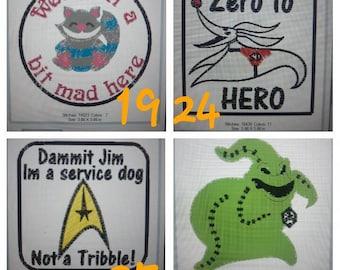 "Service dog patch, do not pet, 2. 75"" round, ada animal patch, ada."
