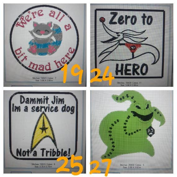 Registered service dog patch (set of two) – usa service animal.