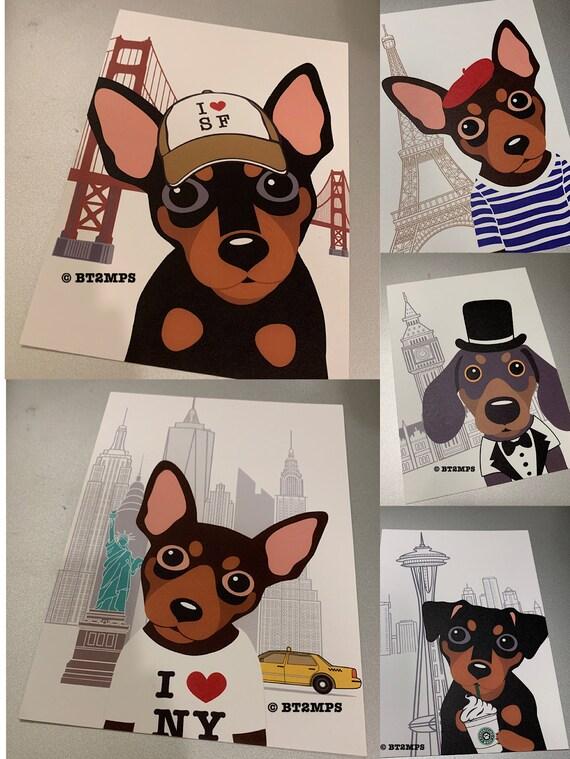 RefrigeratorsMiniature Pinscher I Love My Min PinCars Dog Bone Magnet