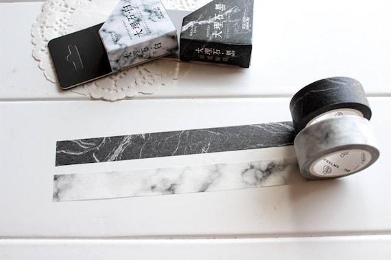 washi tape marmor wei schwarz washi tape monochrome etsy. Black Bedroom Furniture Sets. Home Design Ideas