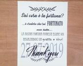 Cartoncino Gratta e Vinci Matrimonio
