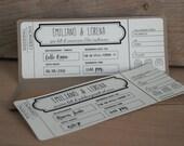 Partecipazione nozze biglietto aereo