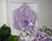 Porta fedi a forma di rosa color lilla
