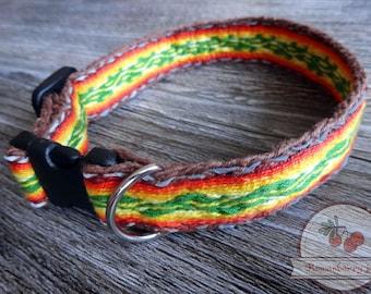 Tablet-woven dog collar