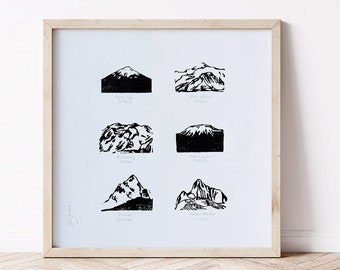 Montagnes engraving - Limited edition illustration