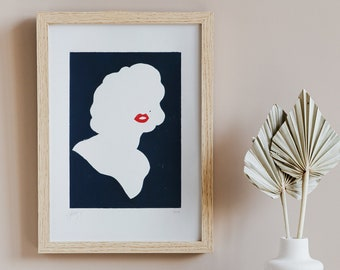 Portrait Marilyn Monroe - Limited Edition Illustration