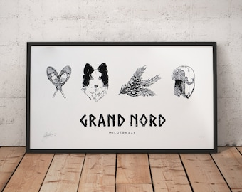 Logravure GRAND NORD - Limited Edition Illustration