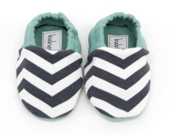 "Babies & minis ""zic zac""-sweet baby shoes with soft sole made of cotton jersey-removable crawl shoes for babies up to 1 year"