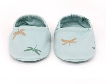 "Babies & minis ""dragonfly""-cute cotton jersey baby shoes with glitter-crawl shoes for babies up to 1 year"