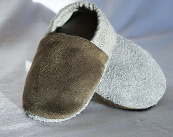 "babies&minis ""Jungle"" - Cute Baby Shoes from Organic Summer Sweat by Life Clothes - Crawling Shoes for Babies up to 1 Year"