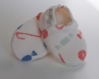"""babies&minis """"candy"""" - cute baby booties in organic cotton jersey by elvelyckan design - crawling shoes babies"""